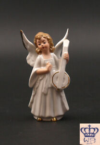 9942157-Wagner-amp-Apel-Porcelain-Angel-with-Lute-Christmas-Nativity-Scene-H13cm