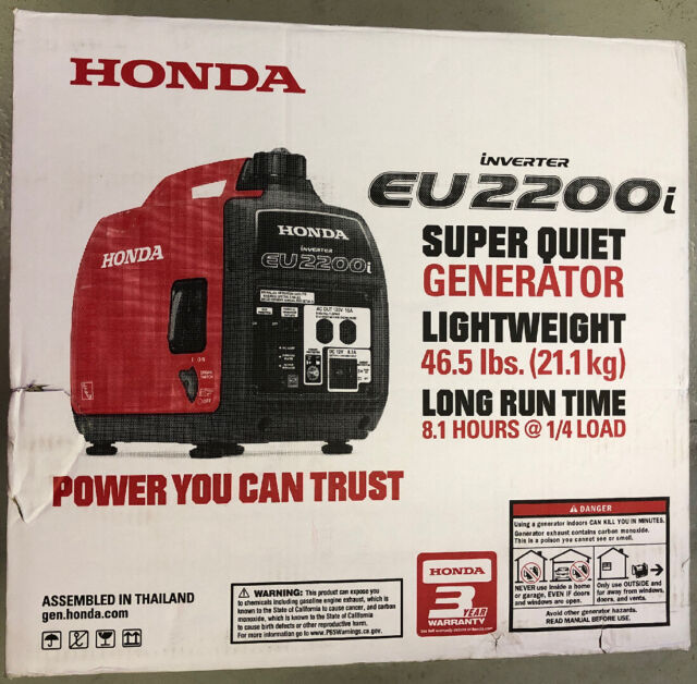 Genuine Honda Eu2000i Companion 2000 Watt 30 Amp Gas Portable Inverter Generator For Sale Online Ebay