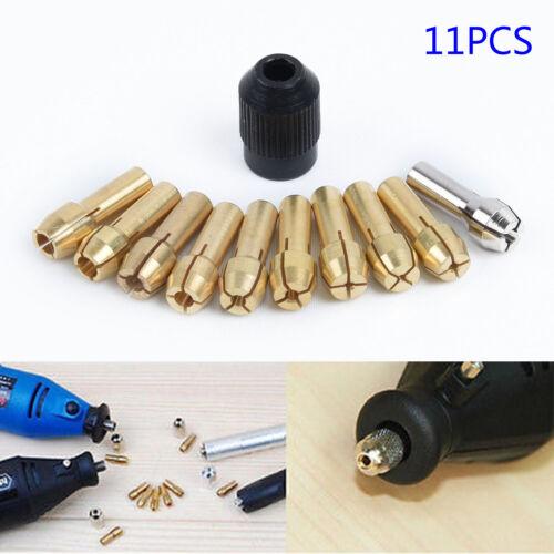 Lot de 10x Collet Nut Kit de changement rapide Outils puissance partielle Rotatif Accessoires