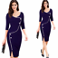 New-Fashion-Women-Back-Zipper-Formal-Office-Ladies-Wear-To-Work-Pencil-Dresses thumbnail 1