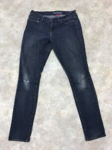 Denizen-by-Levi-039-s-Women-039-s-Blue-Solid-Dark-Wash-Modern-Skinny-Jeans-Sz-8L