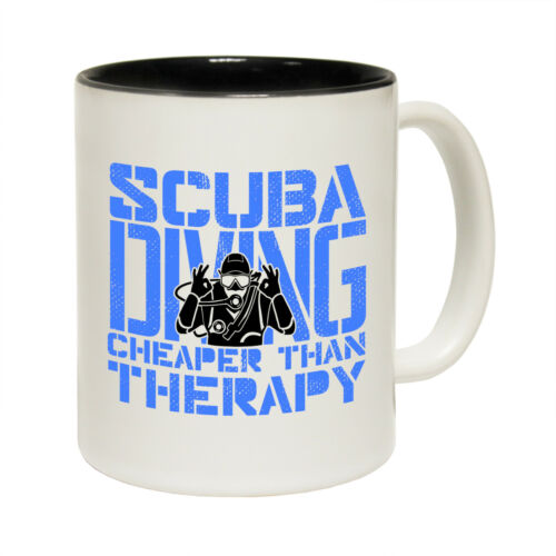 Scuba Diving Mugs OW Scuba Diving Mugs Cheaper Than Therapy Snorkelling Dive MUG