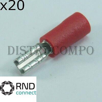 Cosse plate 2.8x0.5mm rouge RND Connect lot de 20