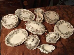 Image is loading English-China-Plates-43-pc-Windsor-C-&- & English China Plates 43 pc Windsor Cu0026H Tunstall England set | eBay