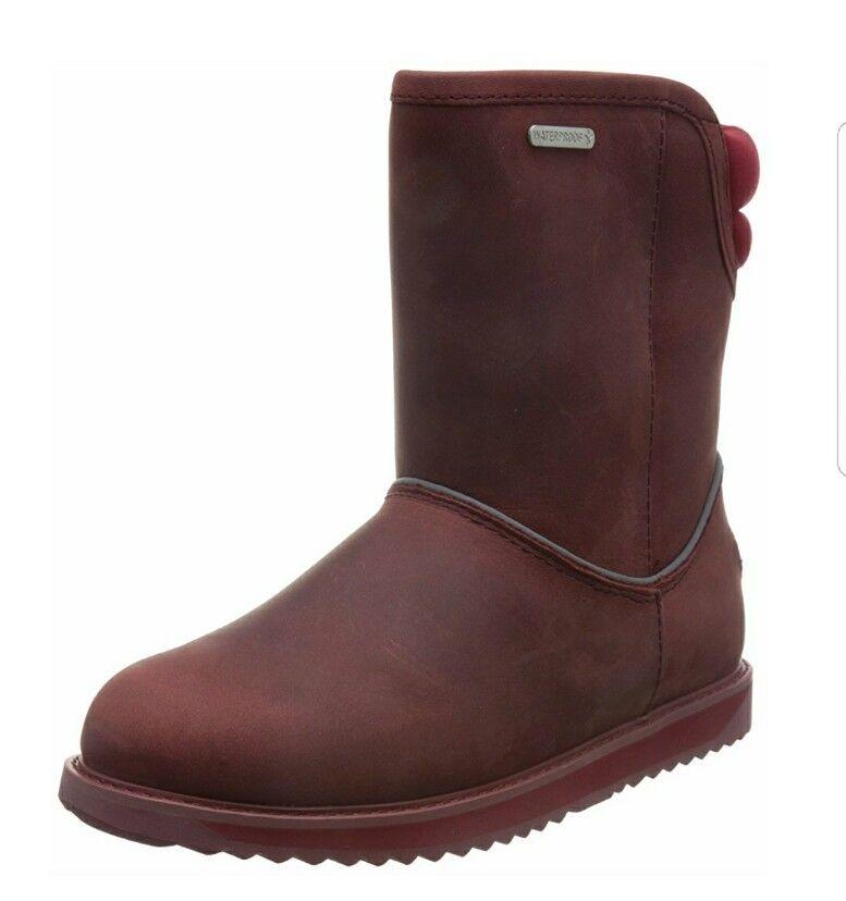 EMU Australia judbury judbury judbury botas de Piel de Oveja Mujer Impermeable En Rojo Quemado W7  nuevo listado