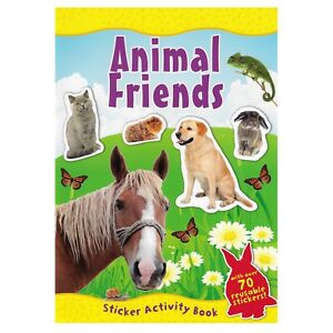 Animal-Friends-A4-Sticker-Book-Over-70-Reusable-Stickers-Kids-Educational-Pets