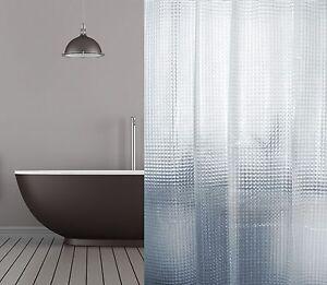 Peva Rideau de Douche 3D Transparent Mosaïque 120x180 - 120x200 ...