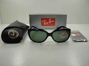 65e662c872a RAY-BAN JACKIE OHH POLARIZED SUNGLASSES RB4101 601 58 BLACK GREEN ...