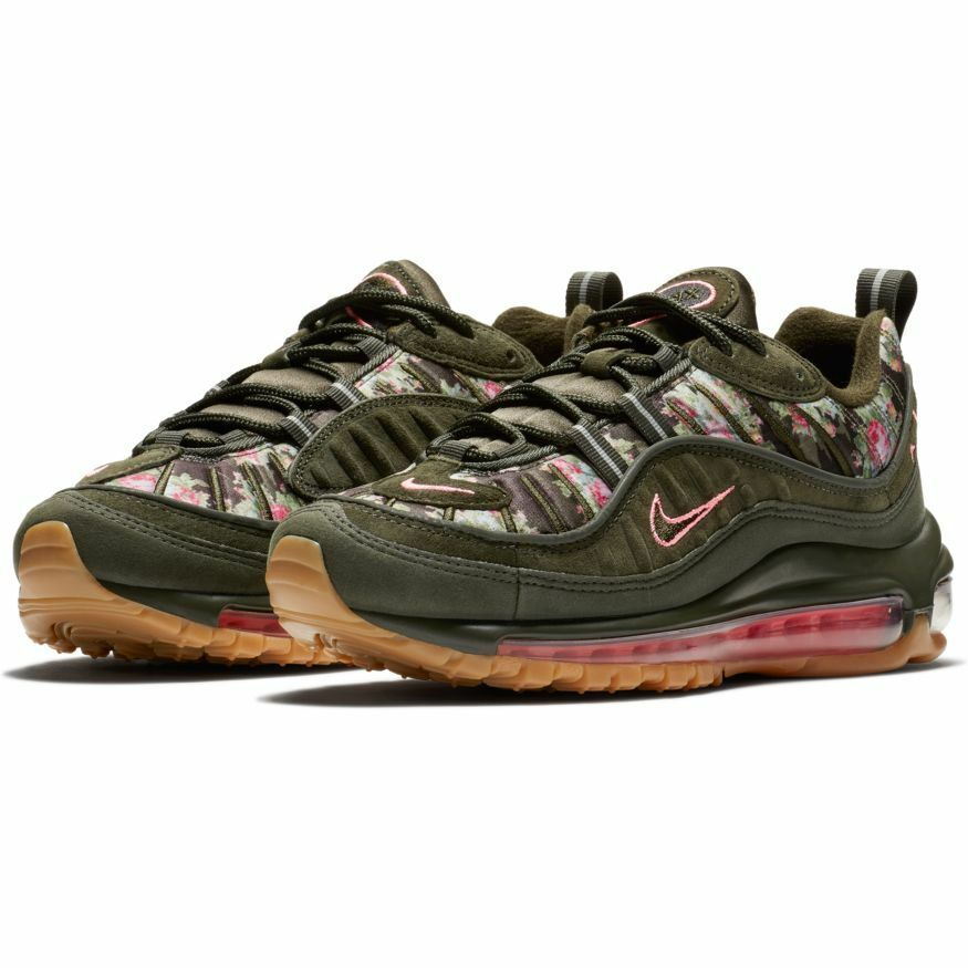 Nike Women's Air Max 98 Floral  Camo  NEW AUTHENTIC Sequoia AQ6468-300