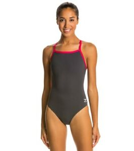 Speedo-Women-039-s-Solid-Endurance-Thin-Strap-One-Piece-Competition-Swimsuit