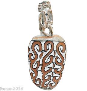 Sculpture Polychrome Origine Papouasie , Nouvelle Guinee