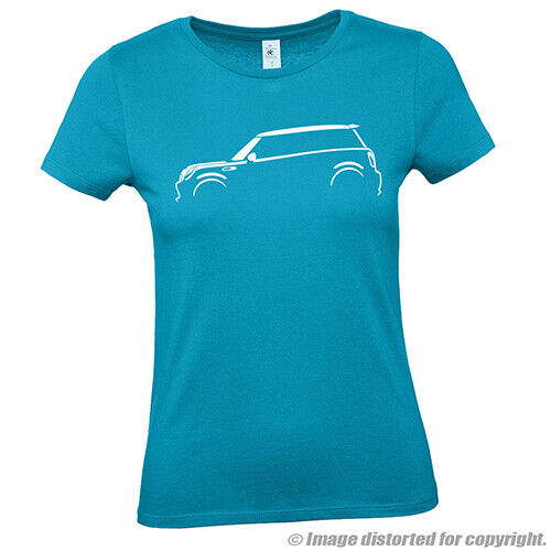 AUTOTEES LADIES CAR T-SHIRT FOR BMW MINI COOPER S ONE ENTHUSIASTS GIFT TEE