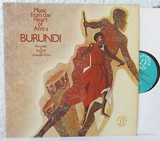 BURUNDI  Music from the Heart of Africa  LP  Nonesuch