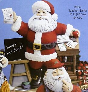 Ceramic-Bisque-Teacher-Santa-Gare-Mold-3824-U-Paint-Ready-To-Paint