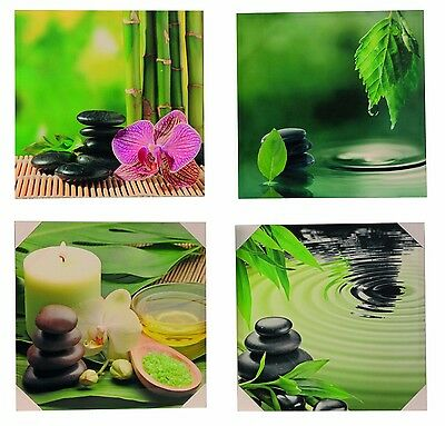 Modern Canvas Picture Bamboo & Stone 50x50 Cm Canvas Freely Selectable