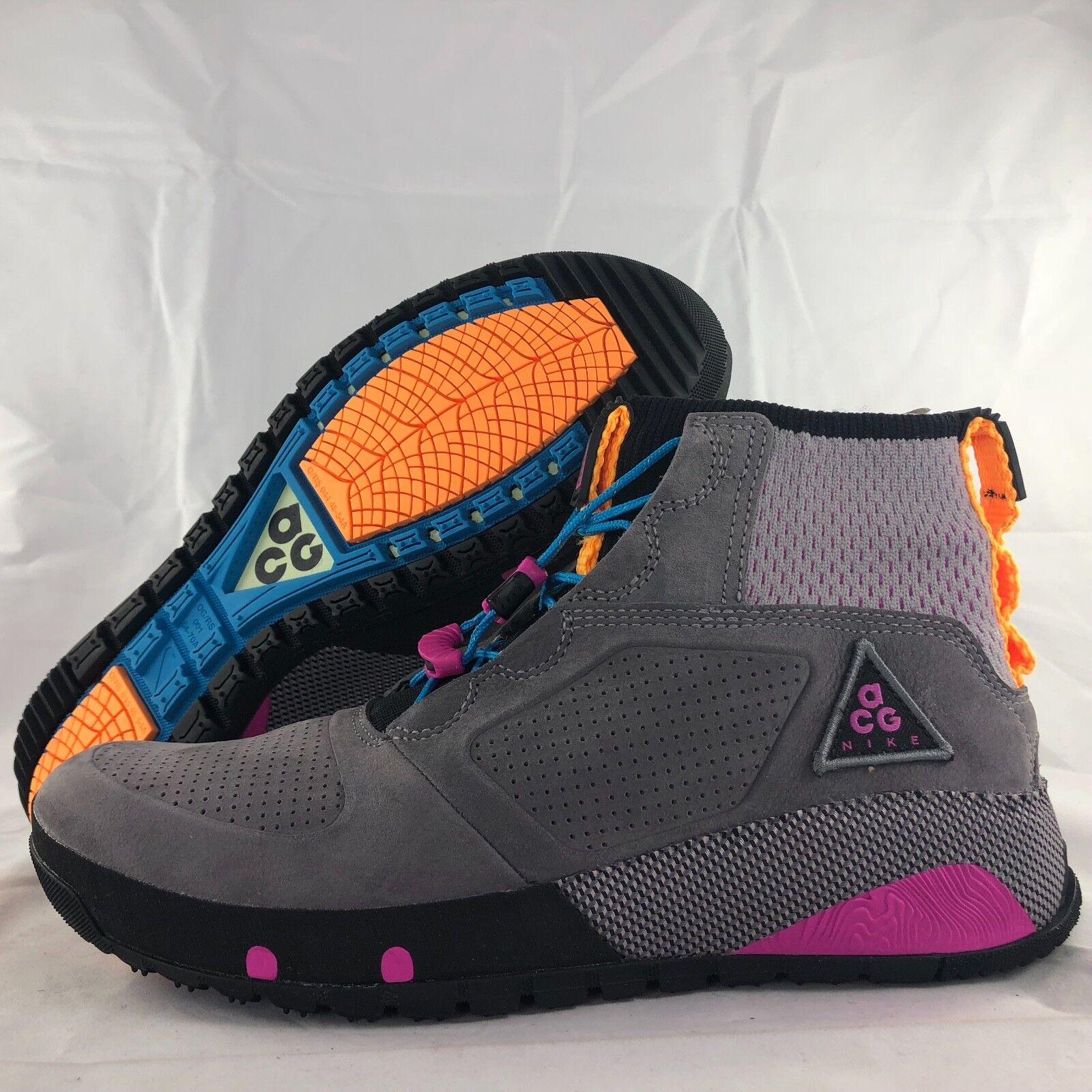 Nike ACG Ruckel Ridge Gunsmoke Grey Purple orange Black AQ9333-001 Men's 7-12.5