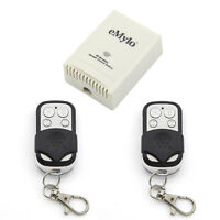 DC 12V 4 Channels Wireless Remote Control Switch RF Black&White Two Transmitter