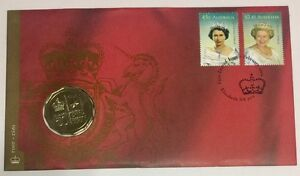 Australia-2002-1-Coin-Commemorating-Golden-Jubilee-Of-Queen-Elizabeth-II-FDC