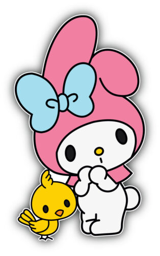 /'/'SIZES/'/' Hello Kitty Cartoon Chick Sticker Bumper Decal