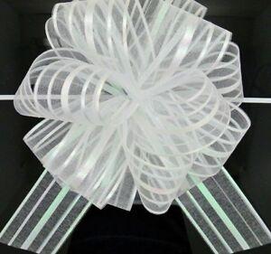 Pull-Bows-Ribbon-Crafts-Large-Organza-Wedding-Decors-Gift-Packing-50mm-5pcs-lots