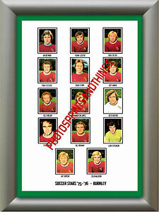 BURNLEY-1975-76-REPRO-STICKERS-A3-POSTER-PRINT