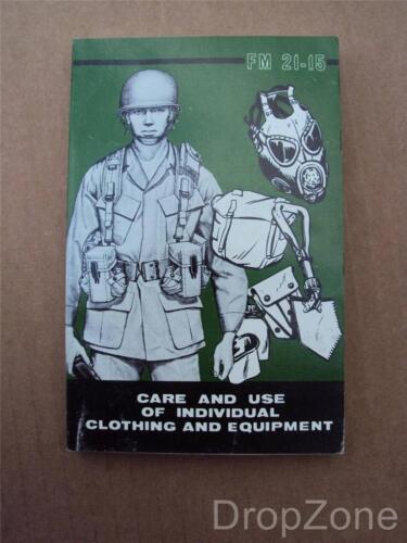 Años 70 Nosotros Ejército Militar Cuidado /& Uso de Ropa /& Equipo Libro De Campo