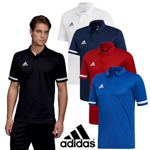 cansada Amplificar llave inglesa  Adidas T19 Team Wear MEN'S POLO SHIRTS Casual Sports T-Shirts - Climacool |  eBay