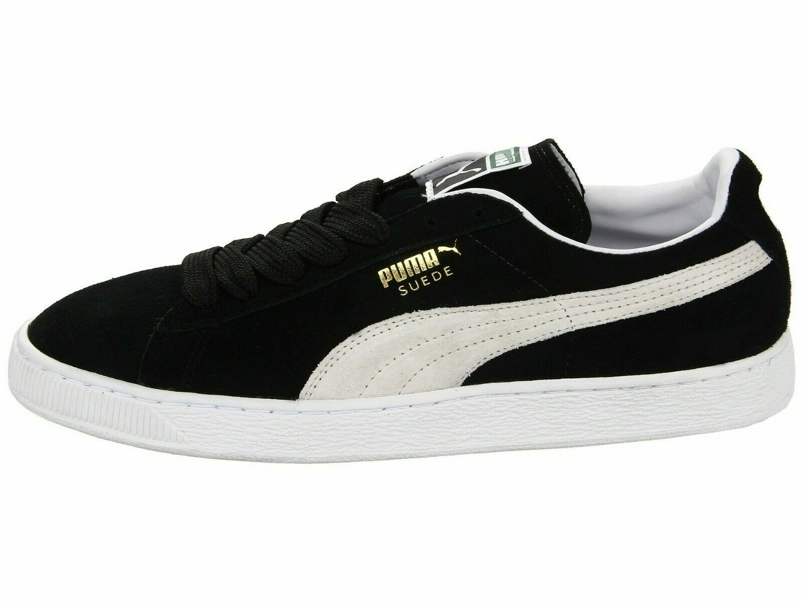 Men/'s Shoes PUMA SUEDE CLASSIC Casual Sneakers 352634-03 BLACK WHITE