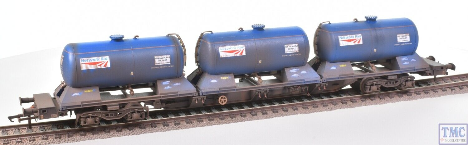 H4-RHTT-003 Hattons OO Rail Head Treatment Train Water Wagons Deluxe Weathering