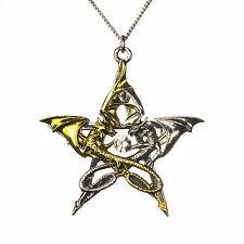 Carpe Noctum Draca Stella Anne Stokes Pewter Pentagram Star Pendant Dragon Love