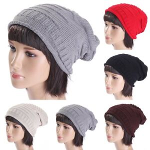 21e391a71ba Men s Women s Knit Baggy Beanie Oversize Fashion Winter Hat Ski ...