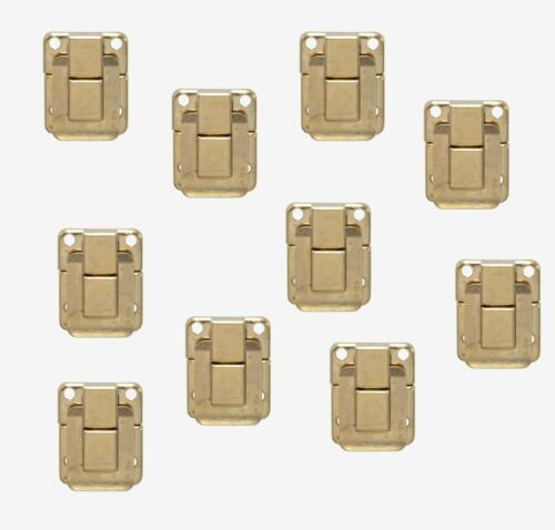 10 x Electro Brass Case /& Box Clip 32mm x 25mm  Toggle Latch