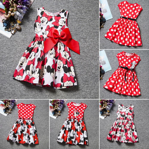 Kid Baby Girl Minnie Mouse Tutu Tulle Princess Dress Wedding Party Mini Skirt