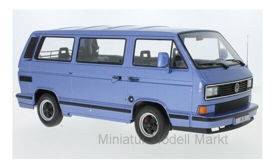 180222 - KK-Scale Porsche b32-metallic-bleu clair - 1984 (vw t3) - 1 18