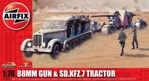 Airfix 88mm Pistolet & Sd.kfz.7 Tracteur 1:76 Art. A02303 Pistolet Et Véhicule