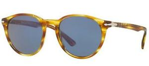 007bd00ab8 PERSOL 3152S 3152 S 52 904356 STRIPED BROWN YELLOW SUNGLASSES SOLE ...