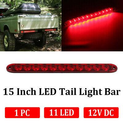 Red Light Riloer Car Rear Stop Light Universal 12V 11 LED Third Tailgate High Level Rear Brake Light