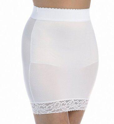 Garter Belts Self-Conscious Rago Shapewear White Half Slip & Panty Light Control Shaper Size 30/large Sturdy Construction