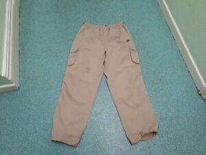 Nike-Walking-Pants-Waist-37-39-034-Leg-33-034-Sandy-Brown-Mens-Outdoor-Activity-Pants