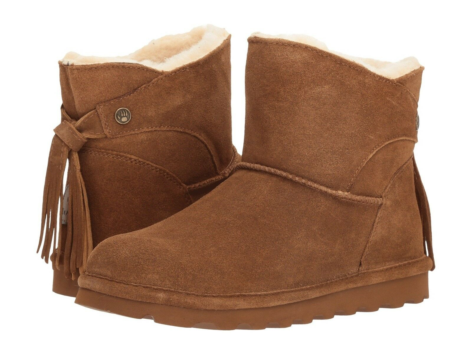 Women's Bearpaw Natalia Warm Fur Boots Hickory Suede 2013W