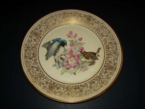 Boehm Birds LENOX Porcelain Lim.Edition Black Throated Blue Warbler Plate 1980