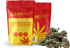BERNESE ALPS KUSH - 4% CBD Cannabidiol Blüten, Cannabis Sativa L. OHNE Samen 10g