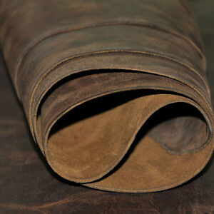 brown-Leather-Hide-Skin-Piece-Leather-scrape-shapes-cowhide-genuine-leather-YT08