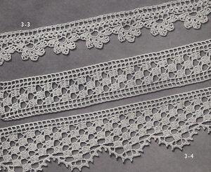Vintage Crochet Pattern To Make Two Elegant Wide Lace Edging Design