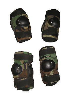 BIJAN/'S NEW US Military Surplus Army Desert Coyote Elbow Pads M Sz Medium