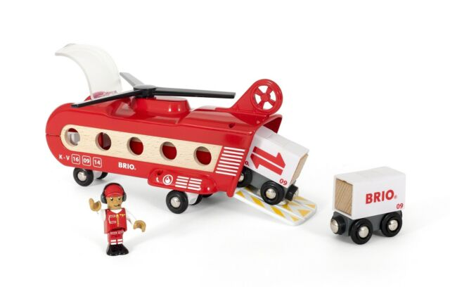 Brio Cargo Transport Helicopter, Vehicle Toy Wooden Train Toy