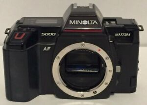 Vtg-Minolta-Maxxum-5000-AF-35mm-SLR-Camera-Made-in-Japan-Body-Only-Untested