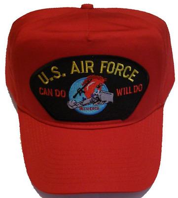 Usaf Air Force Charging Charlie Red Horse Veteran Hat