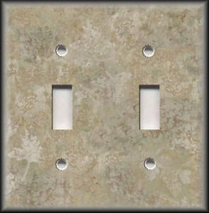 Metal Light Switch Plate Cover Stone Pattern Nature Decor Stone