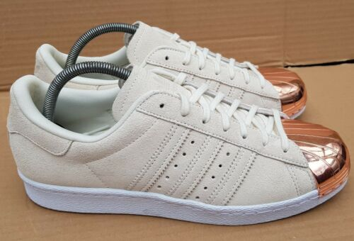Rose Daim En En Adidas Uk Beige Métal 80's Taille Or 6 Baskets Superstar ZRInn0cqp